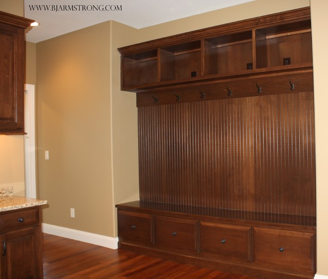 living room decorating with black furniture round couches for small rooms built-in locker organization - traditional laundry ...