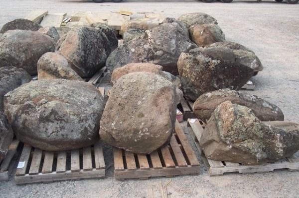 moss rock landscape boulders