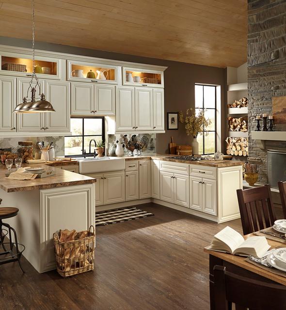 BJorgsen  Co Victoria Ivory Kitchen Cabinets
