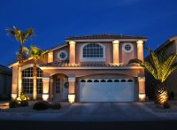 House Front Lighting - Traditional - Landscape - Las Vegas ...