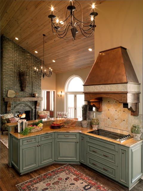 French Country Kitchen  Farmhouse  Kitchen  Houston