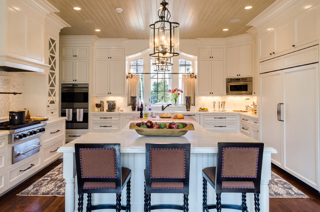 Asymmetrical French Eclectic Traditional Kitchen Nashville
