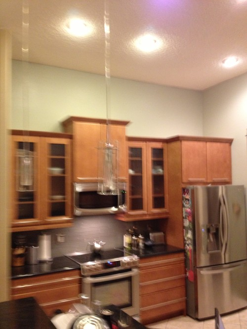 kitchen cabinets orlando ceramic tile design what to put above in a tall kitchen?