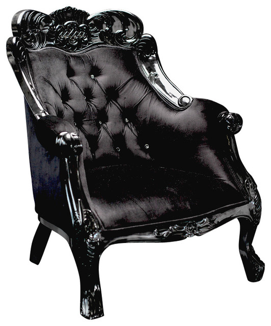black velvet chair big lots folding table and chairs baroque accent victorian armchairs by diva rocker glam