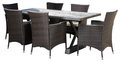 Whitwell Outdoor 7-Piece Dining Set With Cushions