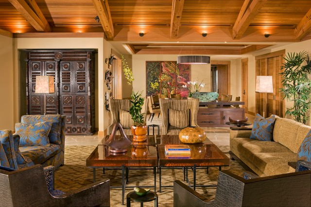 Living Room  Tropical  Living Room  Hawaii  by Saint Dizier Design