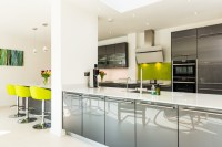 Nobilia High Gloss Anthracite Kitchen with Long Handle ...