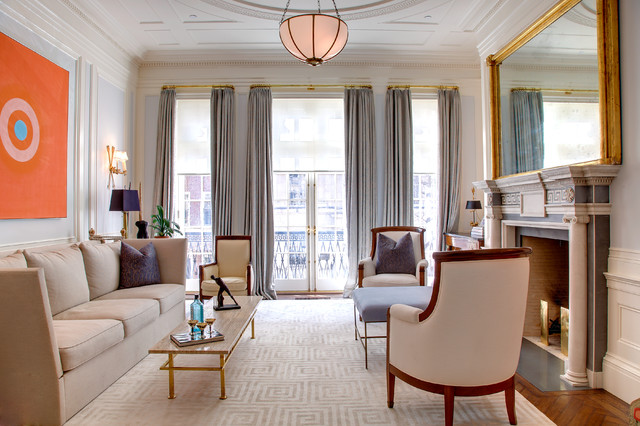 New York City Townhouse  Traditional  Living Room  New
