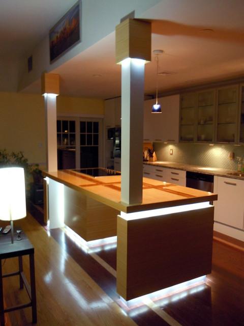 LED Kitchen Island Lighting  Contemporary  Kitchen  St