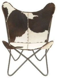 Fancy Metal Real Leather Hair Chair - Eclectic - Armchairs ...