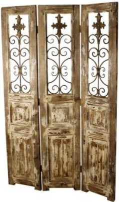Shop Houzz WeFurnIt Tuscany Screen With Wrought Iron A Screens And Room Dividers
