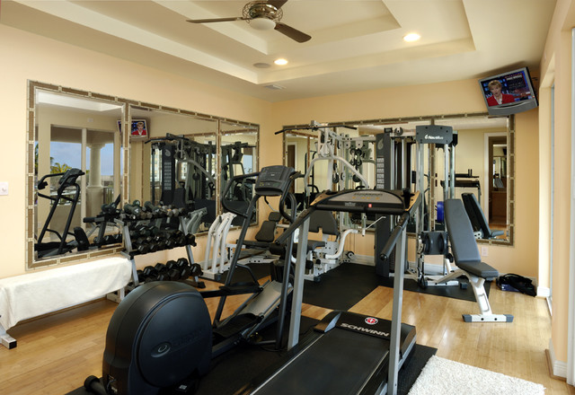 Contemporary Intracoastal Home Contemporary Home Gym Miami