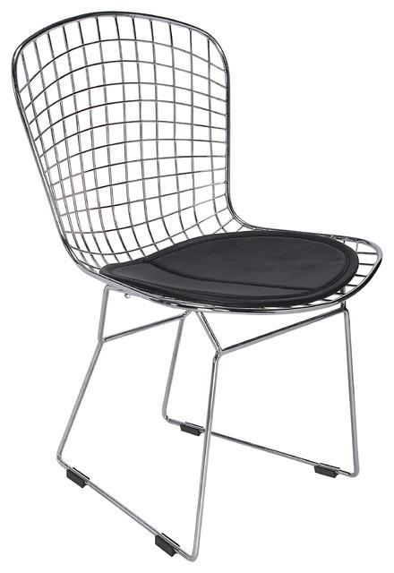 modern metal chairs haworth zody chair price dining side by hampton