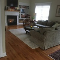 Furniture placement for long narrow living room with ...