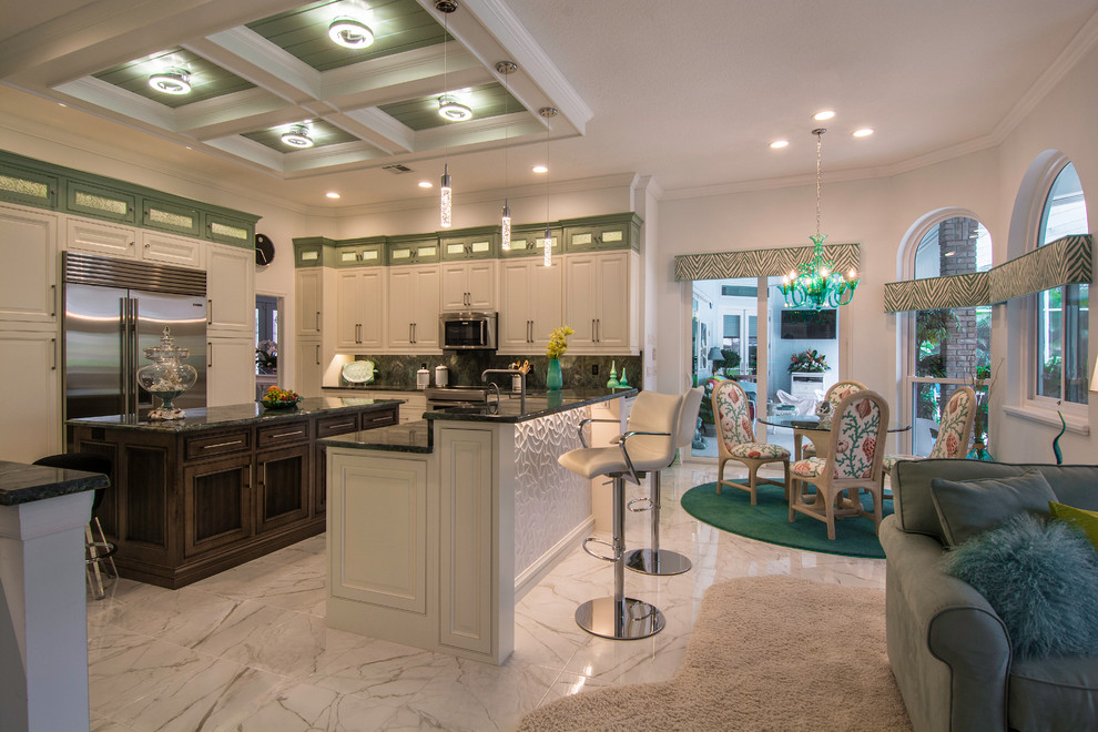 Dove what's so cool about kitchen cabinets? Estate Home in Oldsmar, FL - Tropical - Kitchen - Tampa ...