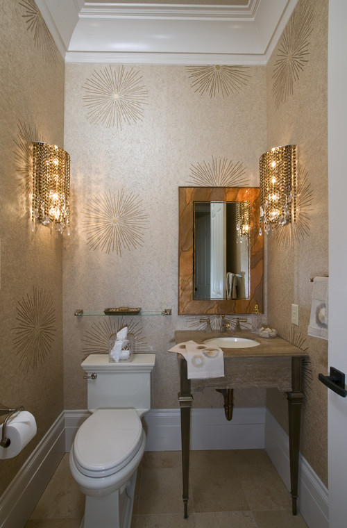 Hollywood Regency Powder Room