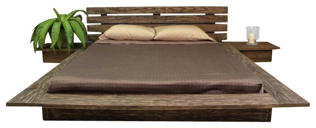 delta distressed finish queen size platform bed