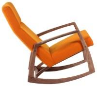 The Bollnas Lounge Chair, Orange - Midcentury - Rocking ...