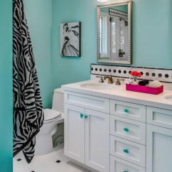 Zebra Print Chairs For Sale Chair Seat Covers With Elastic Teen Girls' Bath Project - Contemporary Bathroom San Francisco By Sabrina Alfin Interiors