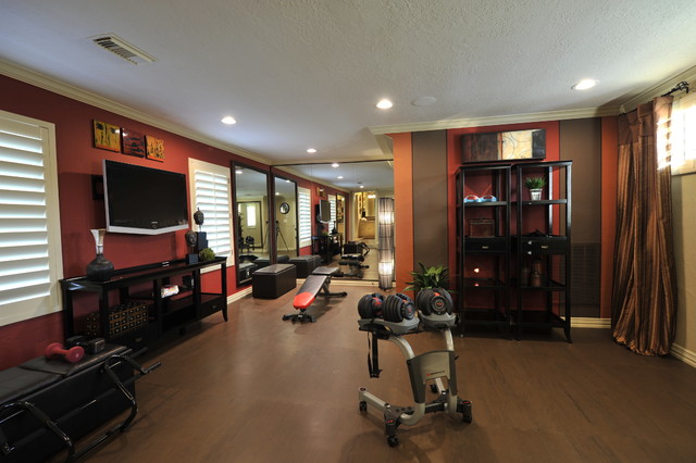 Transitional Remodel Transitional Home Gym Houston By The