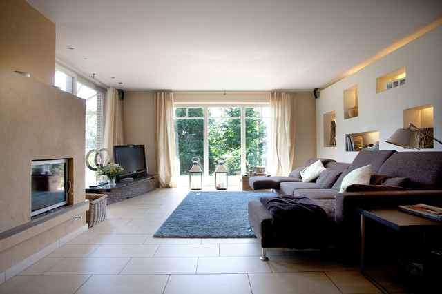 Design Moderne Wohnzimmer Mit Kaminofen Wohnzimmer Mit Kamin ...