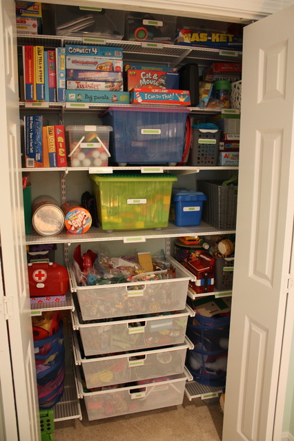 Closet Designs Toy Game Closet After Transitional