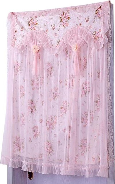 90x120 cm pink lace door curtain bedroom hang curtain