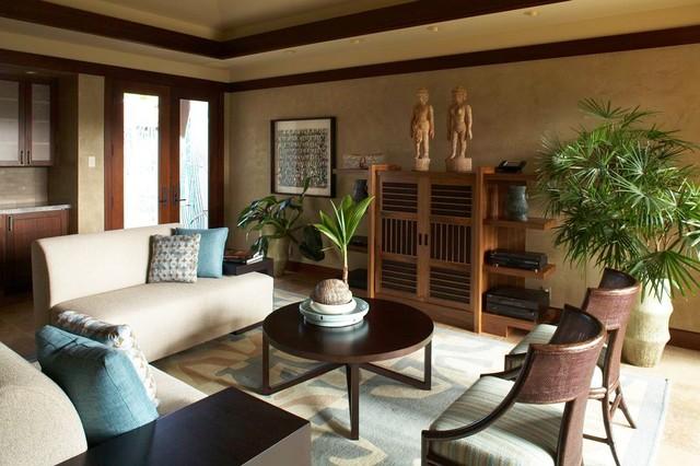 Hualalai Serenity  Asian  Living Room  Hawaii  by
