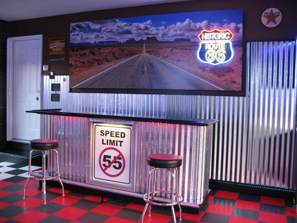 Route 66 Garage American Traditional Garage Birmingham By Custom Storage Solutions Llc