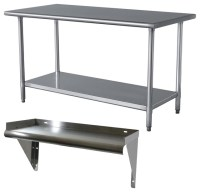 Sportsman Series Stainless Steel Table and Shelf Set ...