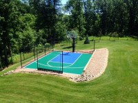 SnapSports - Small Backyard Home Basketball Court ...