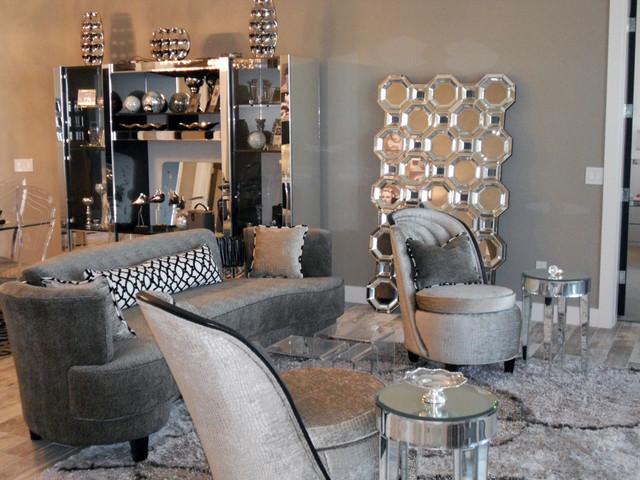 Hollywood Regency Beach House  Contemporary  Living Room  Orlando  by All About You  Ann