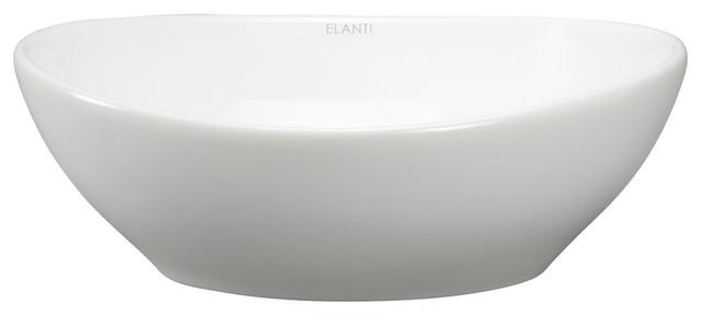 porcelain white vessel oval deep bowl sink