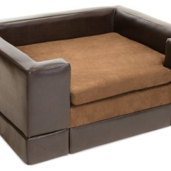 Panache Sofa Pet Bed Rh Kensington Leather Rover Chocolate Brown Dog - Contemporary ...
