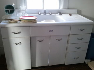 kitchen sinks with drainboards red countertops vintage sink unit double - free