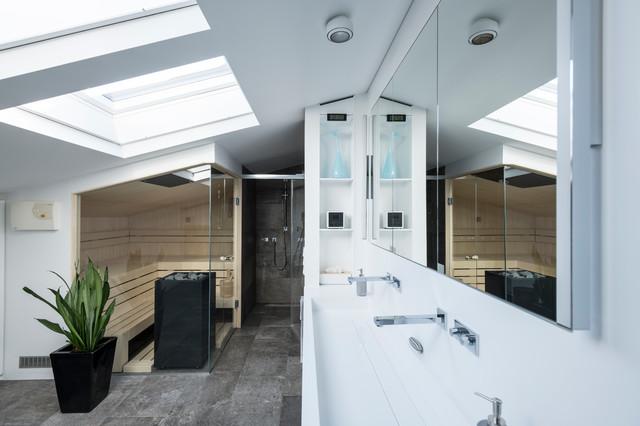 Penthouse Wohnung Nrnberg  Modern  Badezimmer
