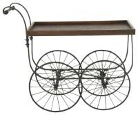 Roslindale Metal and Wood Bar Cart - Industrial - Bar ...