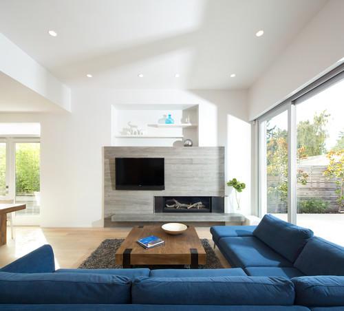 Camino e tv il punto focale del soggiorno mobili di for Parete con camino e tv