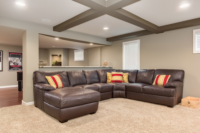 build sectional sofa quilted throws basement - transitional ...