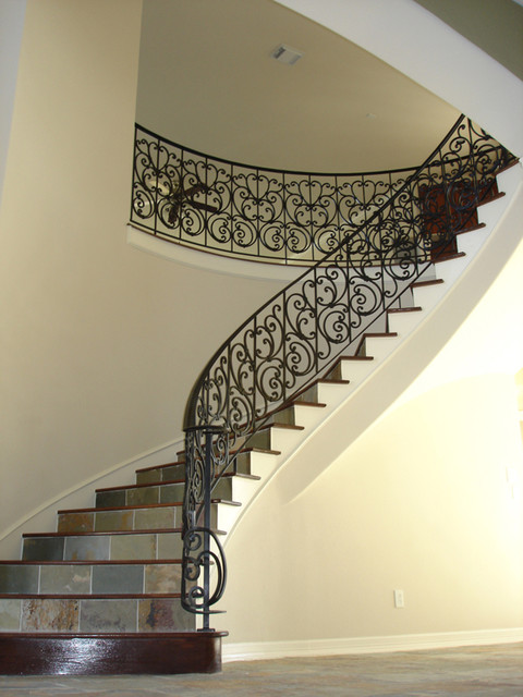 cheap living room furniture houston colour scheme ideas custom wrought iron - traditional staircase ...