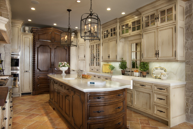 New Look for An Exclusive Coastal Residence  Mediterranean  Kitchen  San Diego  by GDC