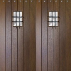 Kitchen Remodeling Tampa Kidkraft Toy Slab Entry Double Door 96 80 Wood Mahogany Rustic Plank ...