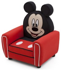 Children Red Disney Mickey Mouse Upholstered Accent Club ...
