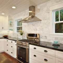 Traditional Armchairs For Living Room Ideas Cream Carpet White Kitchen With Wood Island, Carrara Backsplash, Black ...