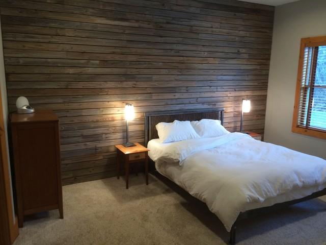 Slatted Barn Wood Wall  Rustic  Bedroom  New York  by