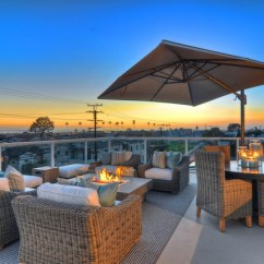Cushions For Wicker Chairs Lounge Chair With Footstool Newport Beach - Rooftop Patio Traditional Orange County By Details A Design Firm