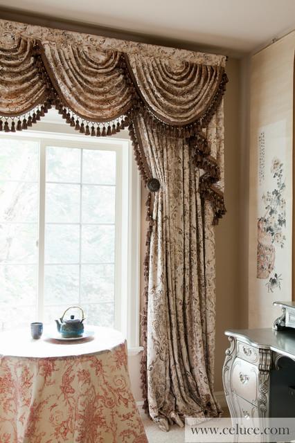 Gilded Vine Cascade Valances Window Treatment