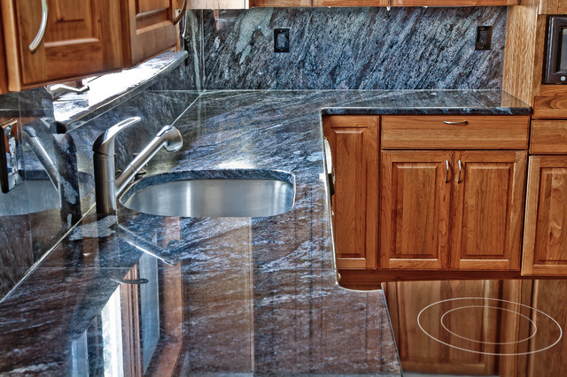 Dynamic Blue Granite Kitchen Traditional Kitchen DC Metro By