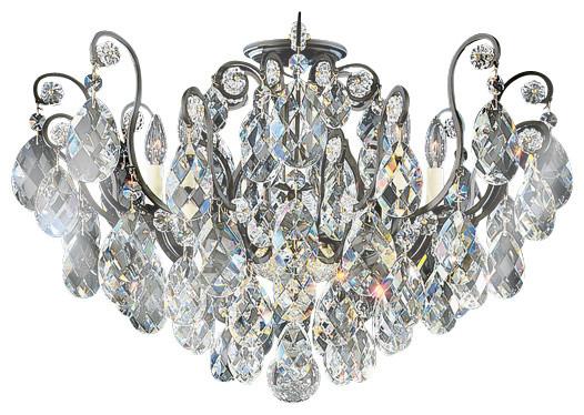 Schonbek Lighting 3785 51 Renaissance Black Semi Flush Mount Victorian Chandeliers