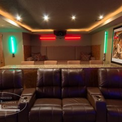 Lazy Boy Living Room Sliding Doors Basement Theater Seating - Traditional ...